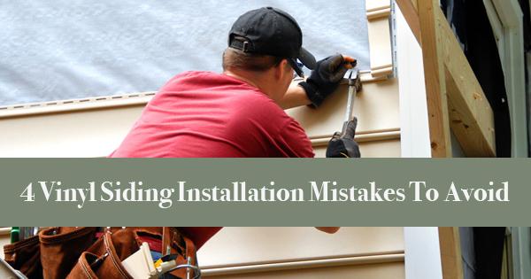 Vinyl Siding Installation Mistakes