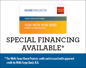 Wells Fargo Home Projects credit card. Special financing available. The Wells Fargo Home Projects credit card is issued with approved credit by Wells Fargo Bank, N.A.