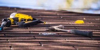 Tools on Roof Ready for Roof Repair